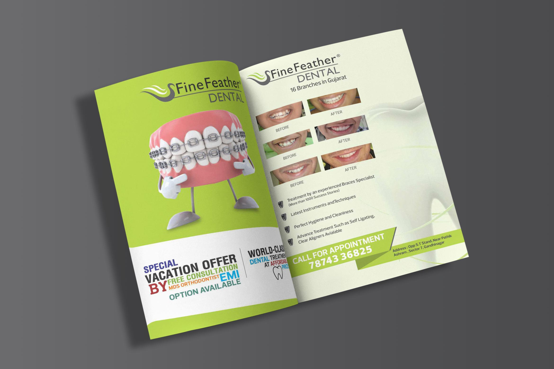 Fine Feather Leaflet