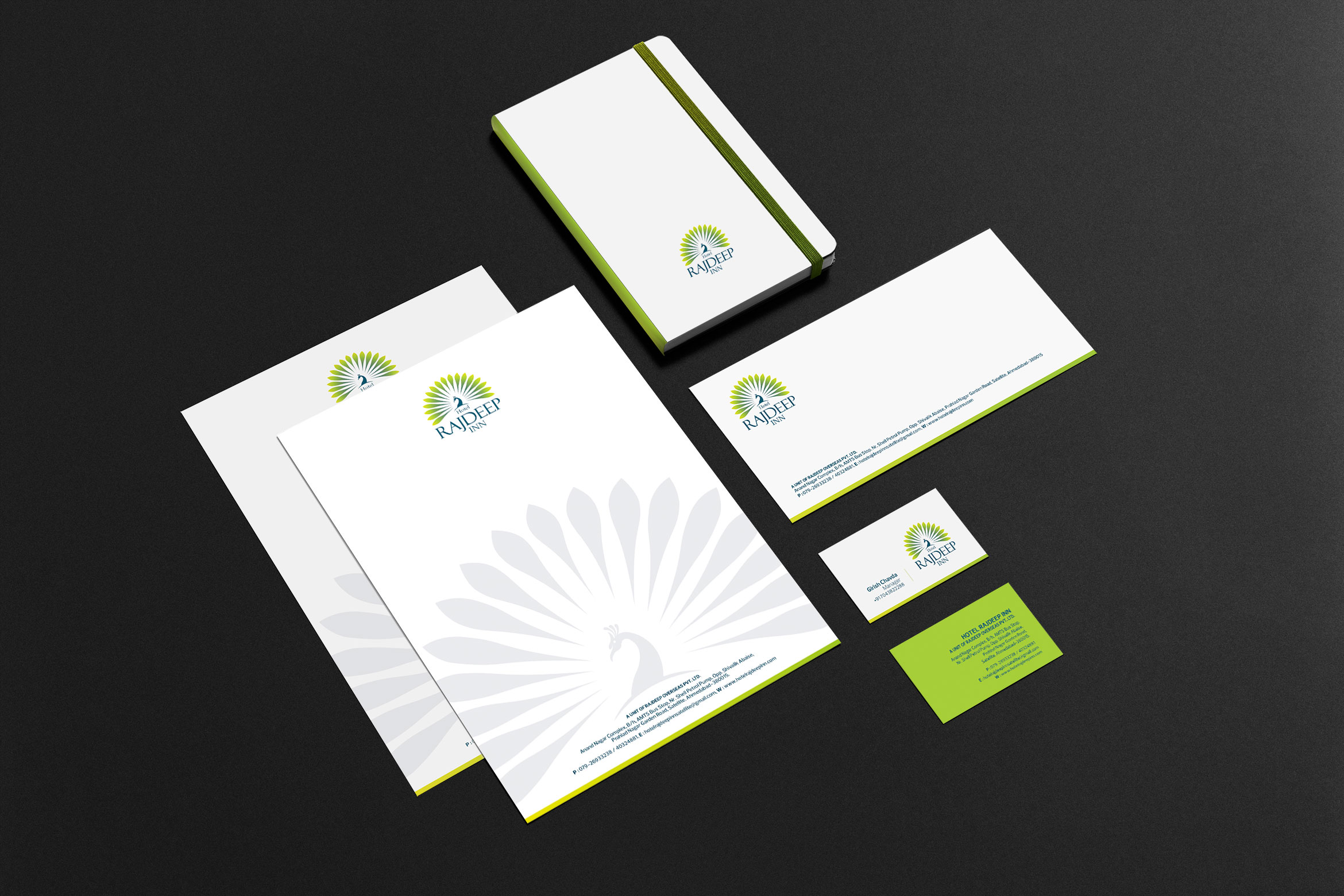 Hotel Rajdeep Inn Logo Design 2 rajdeep stationary