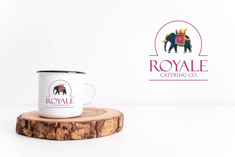 royal catering logo design