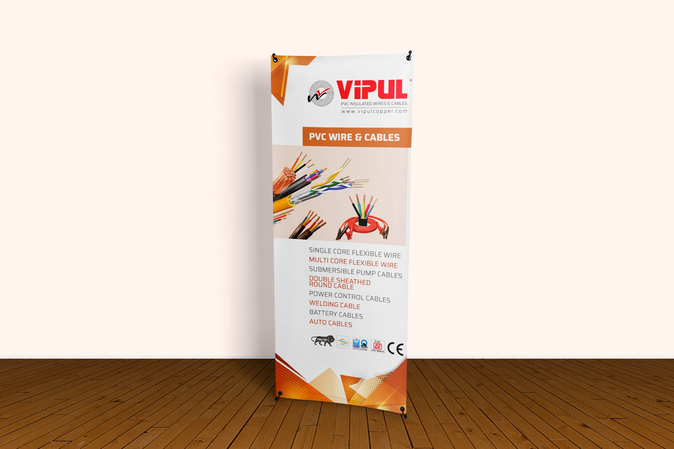 Vipul Copper Standee Design